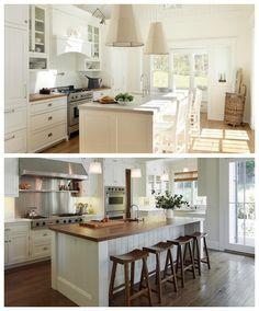 cuisine moderne rustique en blanc