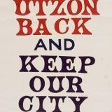 Poster 'Bring Utzon Back and Keep Our City Clean', paper, designed by Bill Turner, Sydney, New South Wales, Australia, 1967 held at the Powerhouse Museum http://www.dhub.org/object/364740,house