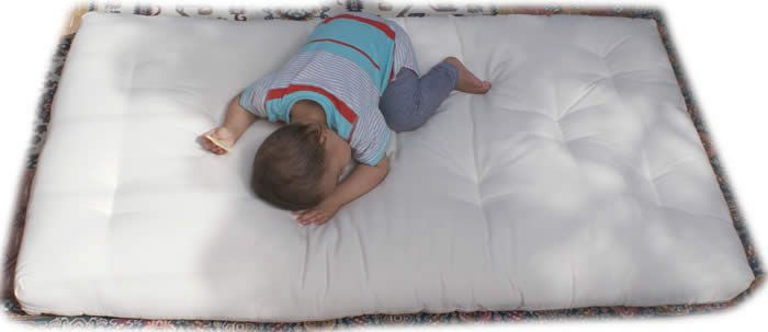 Durable, super comfy cot mattresses! Authentically made with cotton, and options of organic latex core and wool.