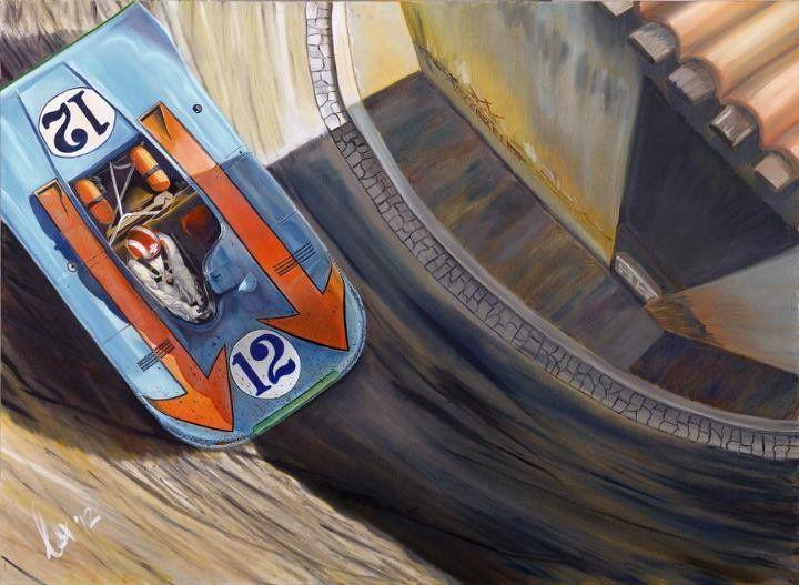 """""""Sunday In Sicily"""" Siffert/Redman Porsche 908 - Targa Florio 1970 http://www.motorart27.com/project/sunday-in-sicily/ #SundayInSicily #Porsche #908 #Gulf #oiloncanvas #artprint #originalart #racingart #sportscarart #JoSiffert #Rodriguez #Redman #Targa #Italy #JWR #JohnWeyer #printsuk #carprints #racing #PorscheArt #kunst #spiegel #derspiegel.de"""