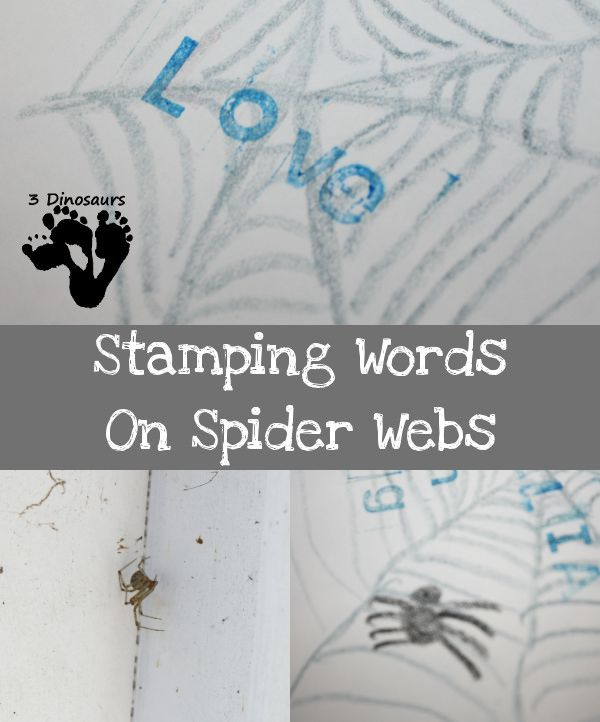 stamping words on spider webs