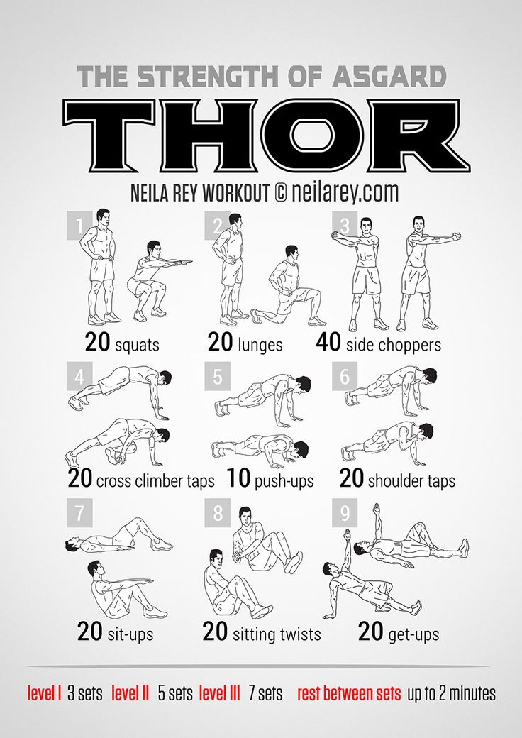 Thor Workout | neilarey.com | #fitness #bodyweight