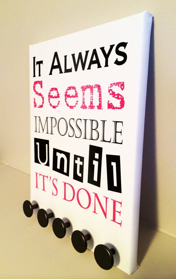 Seems Impossible  RunRack Medal Display Holder by RunRack on Etsy, $37.95