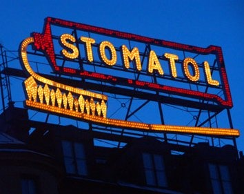 154 best vintage signs neon lights images on pinterest vintage an old outdoor neon ad for stomatol stockholm sweden mozeypictures Gallery