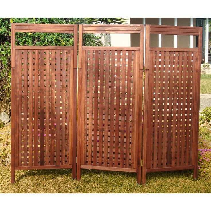 25 best ideas about outdoor privacy on pinterest for Wood patio privacy screens