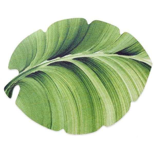 Tropical Leaf Laminated Placemat (€5,40) ❤ liked on Polyvore featuring home, kitchen & dining, table linens, fillers, plants, flowers, green, tropical table linens, tropical placemats and leaf placemats