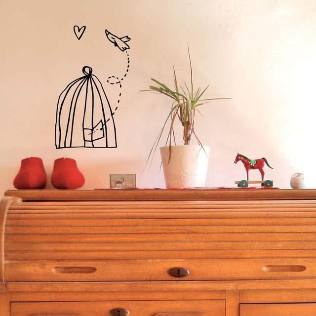 Free bird vinyl wall decor design home goodies for Design divas wall art