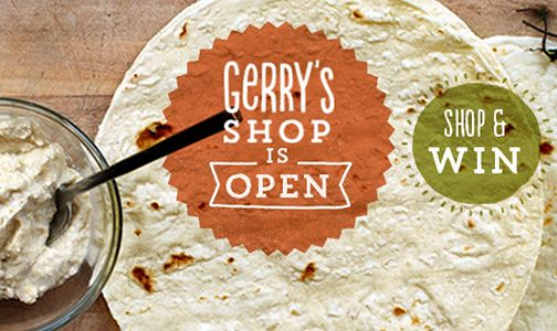 Gerry's Shop is Open. Shop & Win! Prizes For First Shoppers. Buy Gerry's Wraps & #MountainBread.