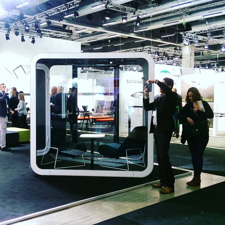 Welcome Framery Q, the acoustic phone booth for 2-4 users #2016sff #sff16 #framery #stockholmfurniturefair #frameryfinland