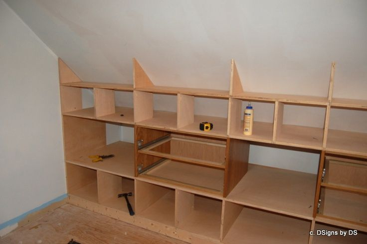 ... ideas on Pinterest   Storage ideas, Slanted walls and Closet designs