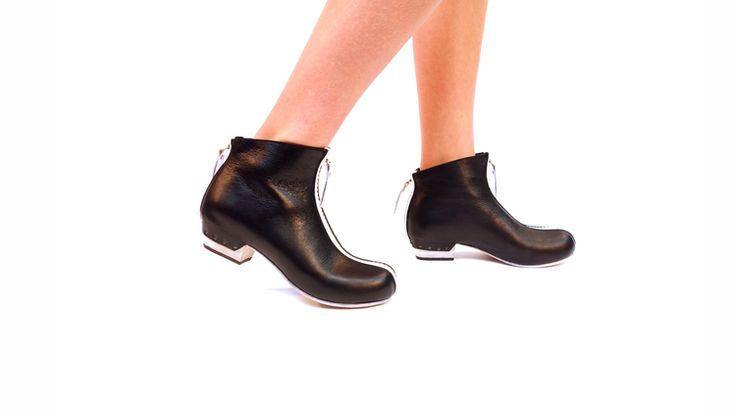 Mod Zip Boots Black and White
