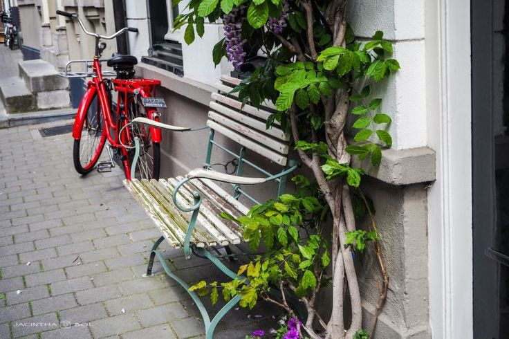 Random rood rijwiel, Den Bosch by Jacintha