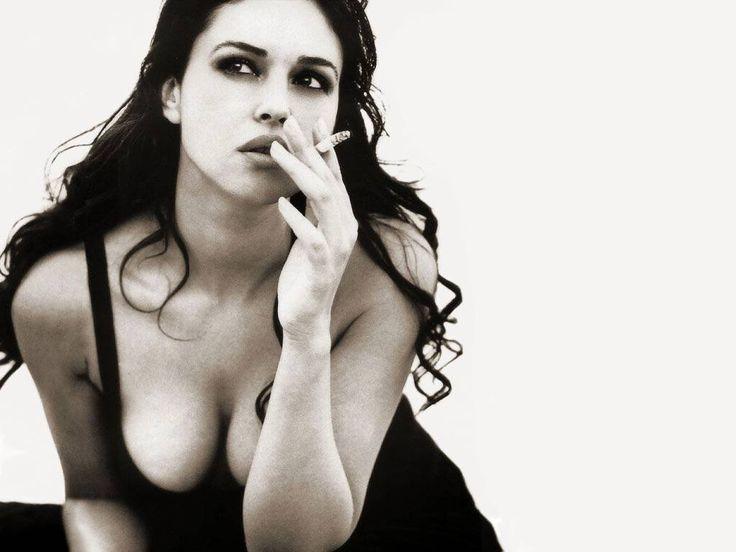 sexy woman smoking