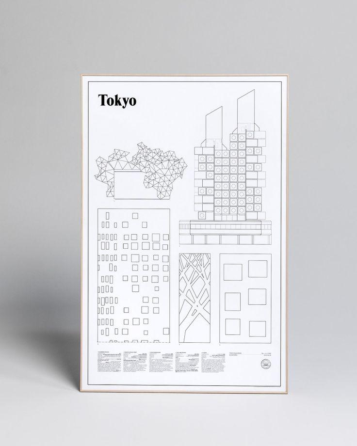 Tokyo Elevations Art Print by studio esinam