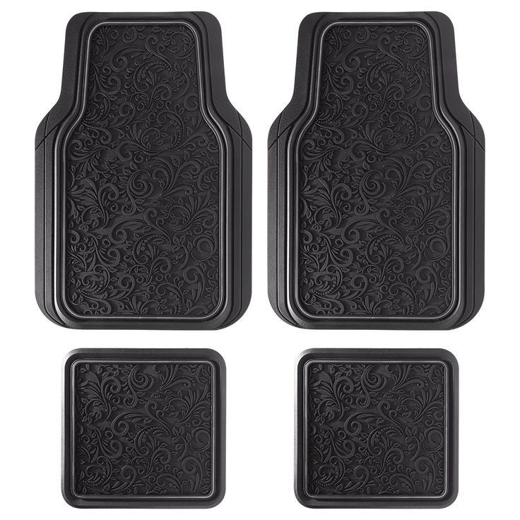 Cars Floor Mats, Stain Resistant Rubber Heavy Duty Universal Car Floor Mats Set