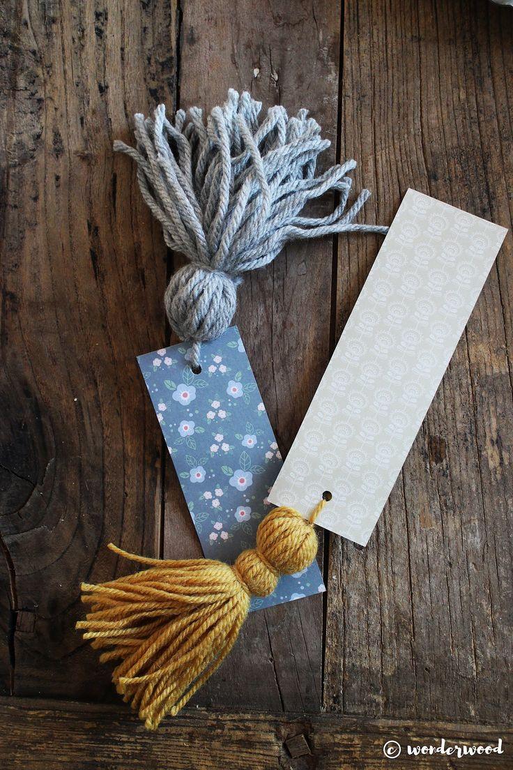 easy diy yarn tassel bookmarks