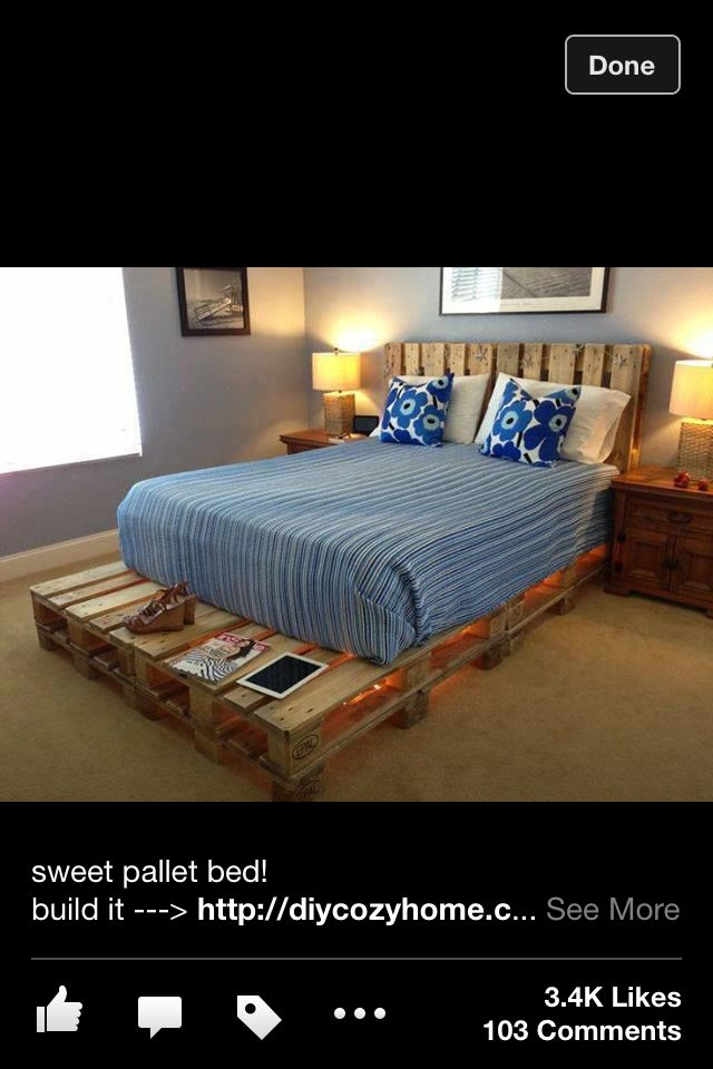 Bed made out of pallets missy pinterest make your for Beds made out of pallets