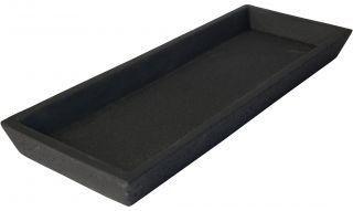 zakkia concrete square tray - black