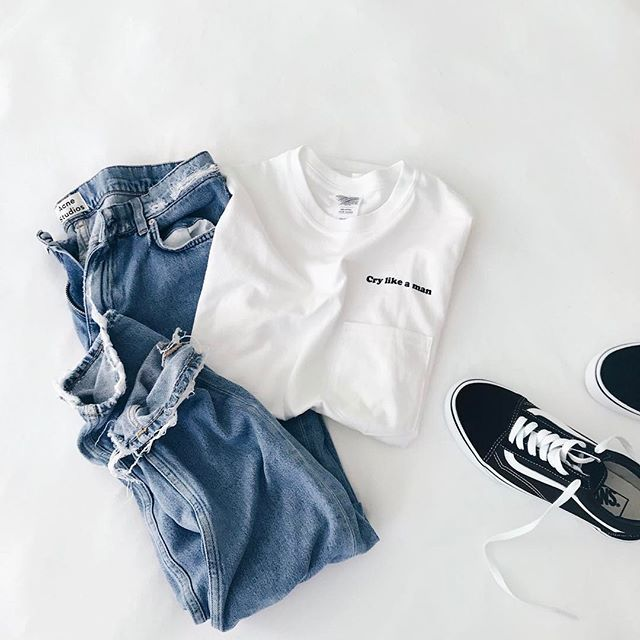 Flatlay Cry Like a Man t-shirt