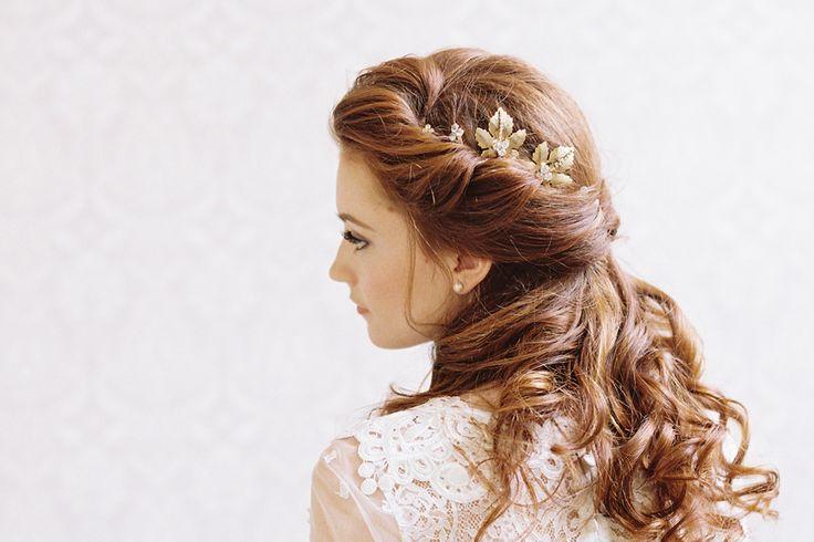 Pretty bridal half-updo