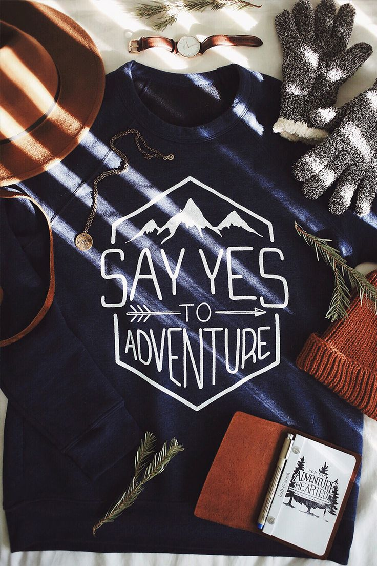 Say Yes to Adventure Sweater! 10% of every purchase helps end sex trafficking. Behind this 100%.