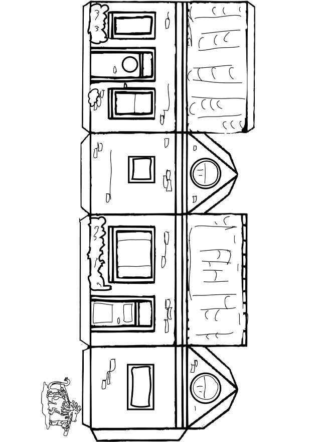 Huis -> bouwplaatje