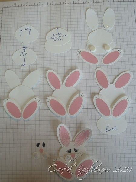 Stampin Up Animal Punch Art | Stampin' Up! Bunny Punch Art by Carla Scraps by taniamireille.gehre