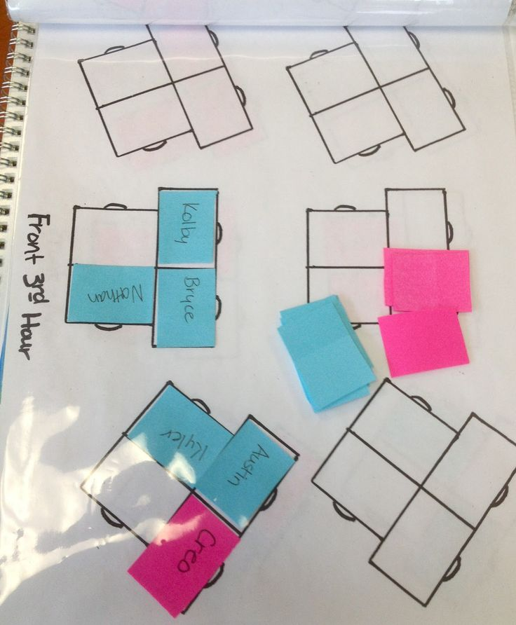Teacher, Teacher, I Declare!: Seating Chart Possibilities
