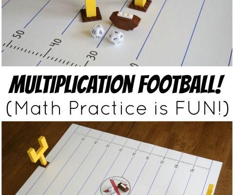 Multiplication Football Game - Make Math Practice Fun!