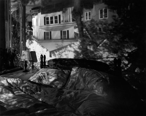 Houses Across the Street in Our Bedroom -- camera obscura Abelardo Morell - Photography