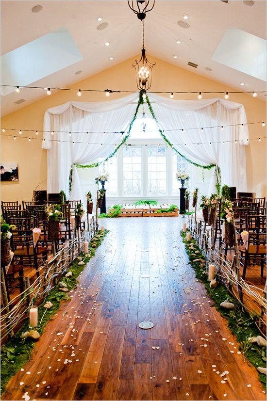 - | PHOTOS: Indoor Garden Wedding Ceremonies - Yahoo Shine