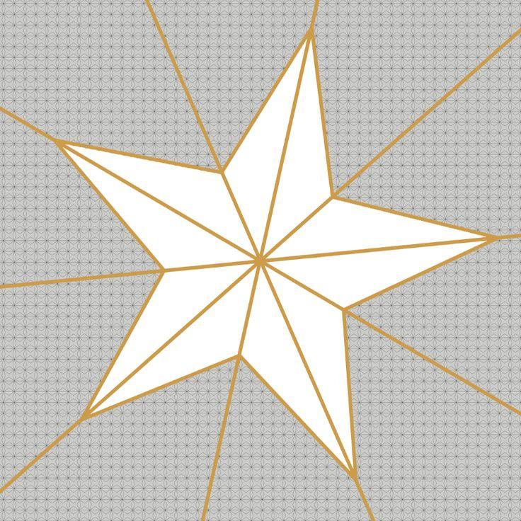 Ster Geometrisch Oker, verkrijgbaar bij #kaartje2go voor €1,89