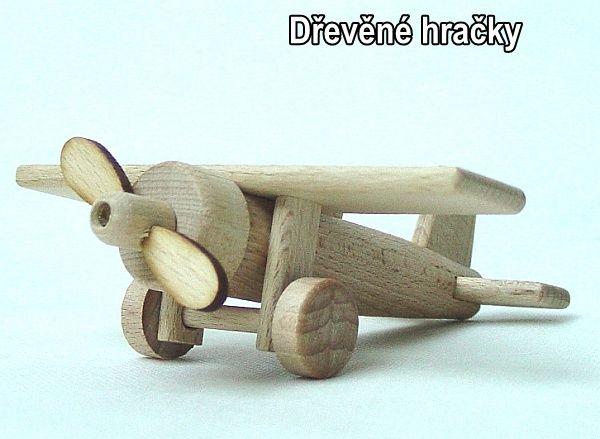 Dřevěné hračky malé letadlo
