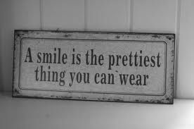 A smile is the prettiest thing you can wear. #InspirationalQuotes