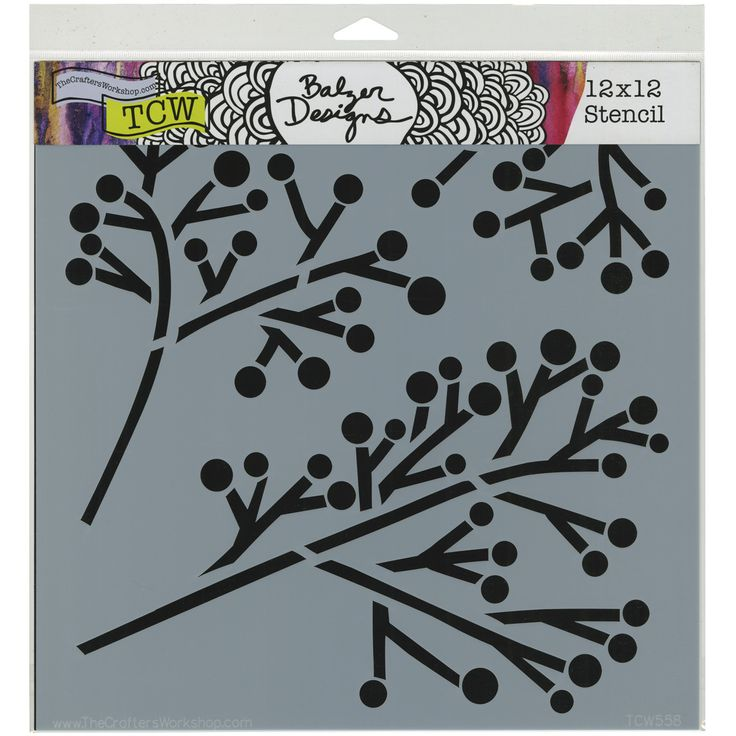 "Crafter's Workshop Template 12""""X12""""-Twig & Berries"