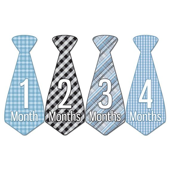 CYBER MONDAY SALE Monthly Baby Tie Stickers by LittleBabyBumblebee, $7.20