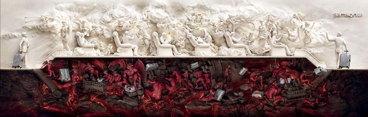 """""""Heaven And Hell"""" campaign for Samsonite. Press Lions Grand Prix in Cannes 2011"""
