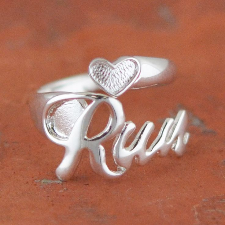 Run Sterling Silver Ring | Sterling Silver Running Jewelry I really want one!