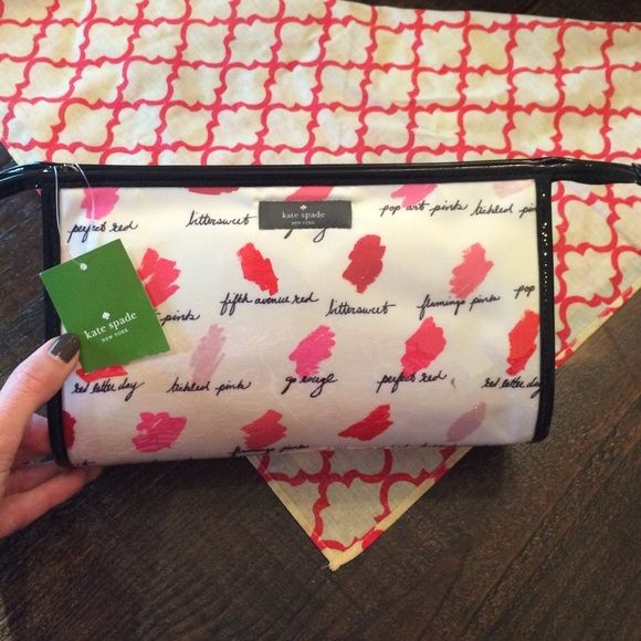 Kate Spade Make-Up Bag New.  Perfect.  8x4. kate spade Accessories