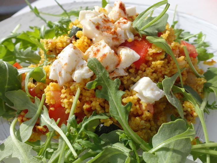 Salade de semoule aux légumes du soleil