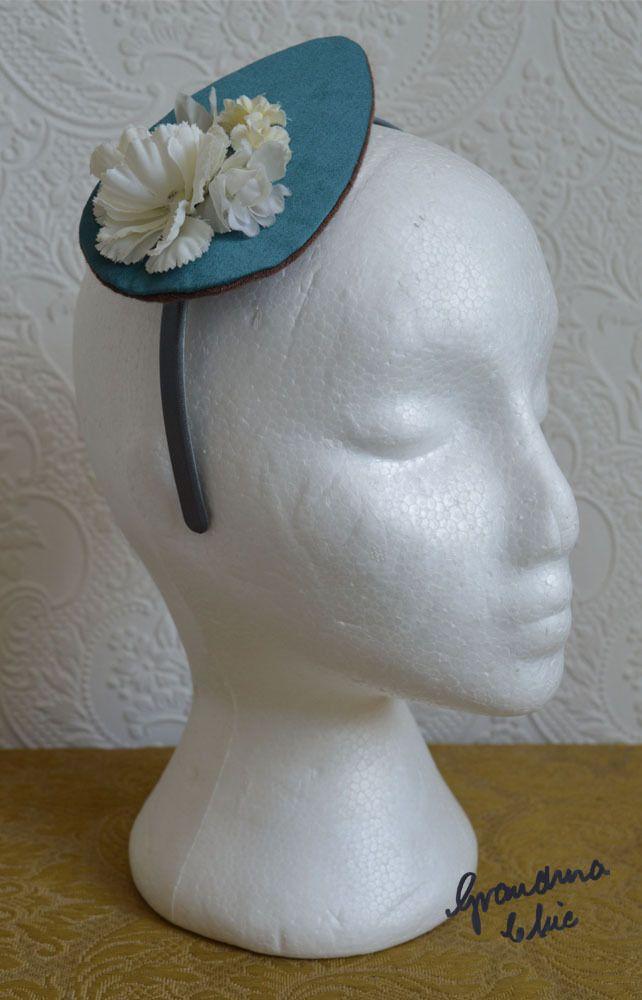 Handmade Fascinator by Grandma Chic 'Teal' £23.00