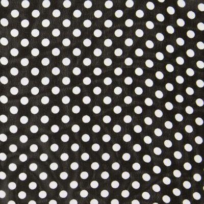 Chiffon Stippen 2 Art-Nr.: 81_6418_069 Materiaal: 100% Polyester Kleur: zwart Breedte: 145 cm Rapport: Breedte: 2 cm  Hoogte: 2 cm  Gewicht: 85 g/m² Gebruik: Blouses, Jurken, Rokken, Sjaals/doeken, Avondkleding Productie- wijze: geweven Textiel- veredeling: bedrukt