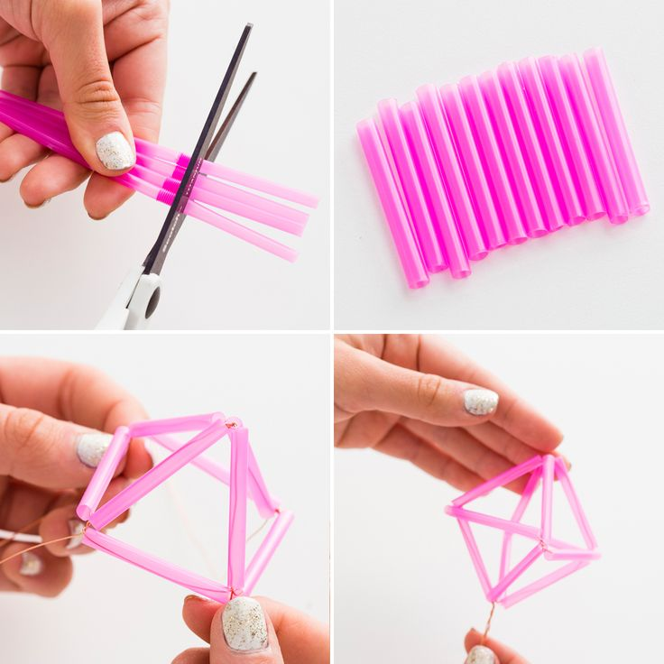 Learn how to make a mobile out of straws with this tutorial.
