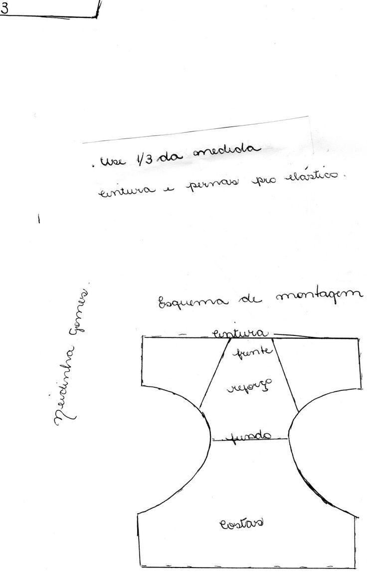 Neidinha Gomes Costuras em geral : MOLDE EM PDF: CUECA INFANTIL P (imprimir em folha A4)