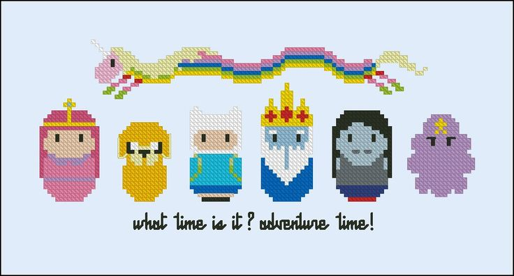 Adventure Time - Cartoons - Mini People - Cross Stitch Patterns - Products