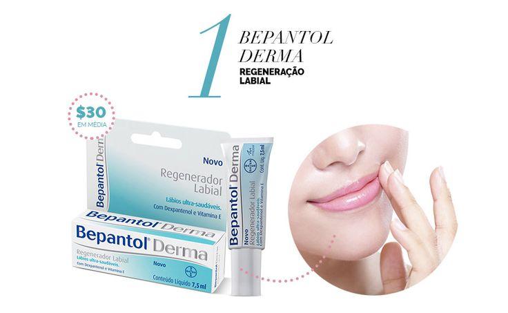 Layla Monteiro dá dicas de produtos para a pele por até 40 reais. Bepantol Derma regeneração labial para cuidados com os lábios.