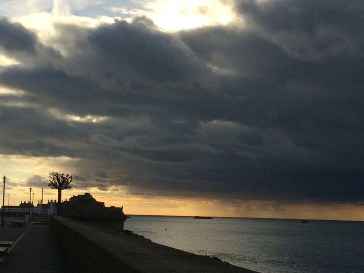 Stormy winter sky in Jersey! www.jerseygirl.co