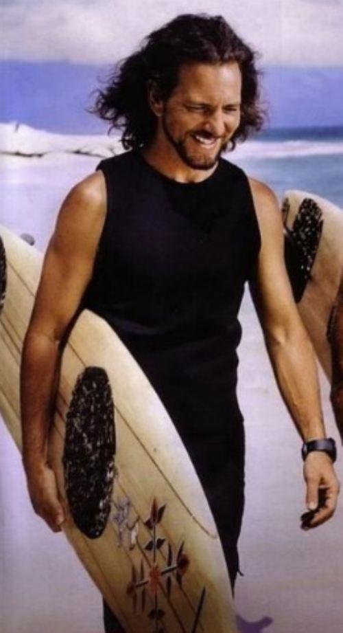eddie vedder surfin'