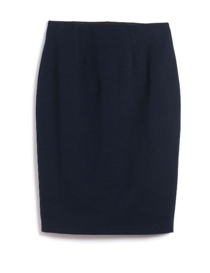Rok donkerblauw stretch